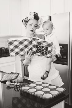 This was me the other day..except baking gluten free cookies from scratch with two children and coloring my hair in between batches. I looked far less lovely..but girl can multitask !!!