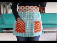 New One Minute Sewing Video: How to Make An Apron From Shirts