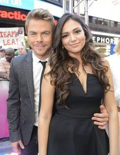 Janel Parrish, Bethany Mota, & New 'DWTS' Cast Make Their 'GMA' Debut! (Video): Photo Janel Parrish makes her way on stage with partner Val Chmerkovskiy during the Dancing with the Stars cast reveal on Good Morning America on Thursday (September Bae, Janel Parrish, Bethany Mota, Derek Hough, Cutest Thing Ever, Dancing With The Stars, Celebs, Celebrities, Celebrity