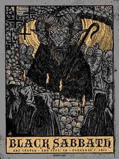 Black Sabbath Concert Poster by Gigart  (Onsale Info)