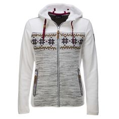 Campagnolo, ski jacket women, white-greyWarm winter jacket by Campagnolo Warm fleece Campagnolo ski jacket, a great Italian brand. The design gives this jacket that winter look and feel. The jacket has a full zipper, a hoodie and two pockets with a zipper.