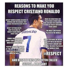 Absolutely wonderful guy ..... cristiano ronaldo That's why he's the best <3