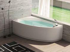 Corner whirlpool bathtub NOVA | Corner bathtub - HAFRO