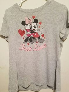 Mickey Mouse True Love Shirt New   Clothing, Shoes & Accessories, Women's Clothing, T-Shirts   eBay!