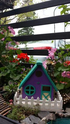 birdhouse for fairy garden