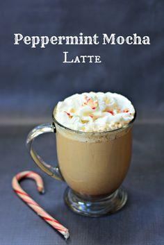 Peppermint Mocha Latte - Growing Up Gabel #recipe #coffee