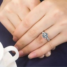 Affordable Luxury 3 CT Test Positive Moissanite White Gold Plated Wedding Ring Women Gold Propose Ring Never Tarnish or Fade Round Solitaire Engagement Ring, Perfect Engagement Ring, Designer Engagement Rings, Solitaire Rings, Moissanite Diamond Rings, Pear Shaped Diamond Ring, Simulated Diamond Rings, Promise Rings For Her, Proposal Ring