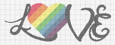 Cross-stitch Love by alcnaurewen ... ... no color chart available, just use pattern chart as your color guide.. or choose your own colors...