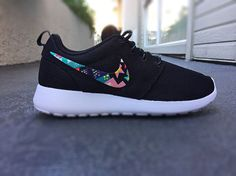 Womens Custom Nike Roshe Run sneakersTeal and hot by CustomSneakz