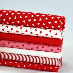 Romantic Red 42 piece fabric bundle  100  by fabricsandfrills, $16.50