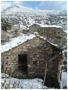 Village under snow, small village of Alzeto, Ville-di-Pietrabugno, France Copyright: Dominique Tison