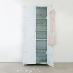 Vintage Pale Blue Two Door Cabinet l Rachel Ashwell Shabby Chic Couture l Shabby Chic