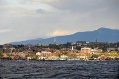 Love visiting A's hometown. View of downtown Burlington from Lake Champlain.