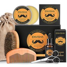 WOSTOO Beard Grooming Kit The Ultimate Beard Care Kit Gift Set with Premium Bartöl Balsam Shampoo Comb & Box This Year The Best Gift Idea for Those who Love Your Moustache to Maintain - - von 5 Sternen - Bart Pflege - Tipps 2019 Beard Grooming Kits, Beard Care, Moustache, Bearded Men, Best Gifts, Shampoo, Box, Farmhouse Rugs, Gift