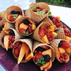 fruit in ice cream cones = mmm