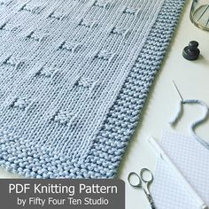 KNITTING PATTERN / Blanket / Graph Paper / Throw / Afghan /