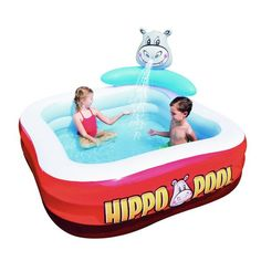 201*201*91cm Inflatable Swimming Hippo Pool – aststore17