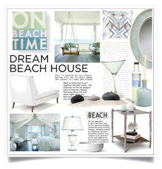 """Dream Beach House"" by ewa-naukowicz-wojcik ❤ liked on Polyvore featuring interior, interiors, interior design, home, home decor, interior decorating, LAFCO, Pacific Beach, Rosanna and Menu"
