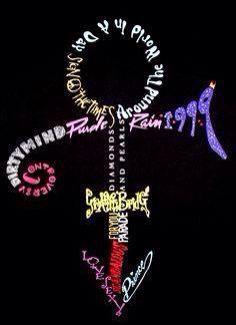 ❤ Prince text symbol graphic. Typography