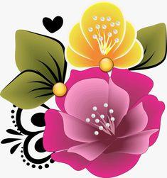 Adesivos de unhas Flower Graphic Design, Floral Design, Flower Tattoo Designs, Flower Designs, Flower Images, Flower Art, Rock Flowers, Beadwork Designs, One Stroke Painting