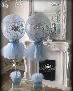 Close up of our navy and gold tulle balloons Balloon Centerpieces, Baby Shower Centerpieces, Balloon Decorations, Boy Baptism Decorations, Tulle Wedding Decorations, Boy Baby Shower Themes, Baby Shower Balloons, Baby Boy Shower, Baby Boy Balloons