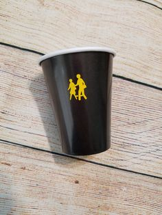 Wheels on The Bus Birthday Vinyl Decorated Paper Party Cups - Back To School Party - Party items - School Bus - School Crossing Partyware…