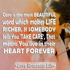 Care is the most beautiful word