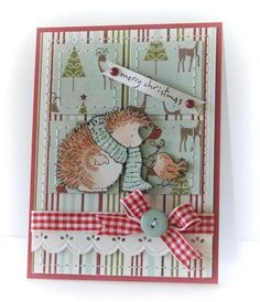 These Penny Black stamps are just too cute. I like this card idea.