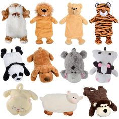 Novelty Hot Water Bottle Gift With Removable Cute Plush Animal Cover Preview
