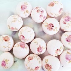 Macarons with food grade applicaes. IMAGE ONLY