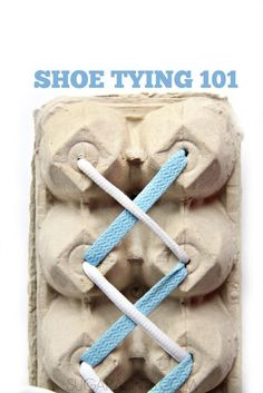 Tips and tools for teaching kids to tie their shoes from and Occupational Therapist. This would be a perfect center in a life skills or special needs class. Once they master tying the laces this way, move onto the real deal. An important life skill that c Teaching Life Skills, Tools For Teaching, Teaching Kids, Fun Learning, Preschool Activities, Family Activities, Tie Shoes, Kids Education, Special Education