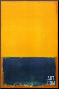 Yellow and Blue Mounted Print by Mark Rothko at Art.com