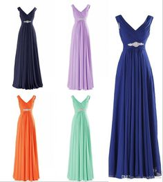 2017 New Real Image Prom Dresses V Neck Pleats Long Royal Blue Champagne Lilac Green Party Evening Special Occasion Gowns Cheap In Stock Mint Green Prom Dresses Perfect Prom Dress From Modeldress, $51.45| Dhgate.Com