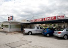 The Courtesy Diner  3155 S. Kingshighway St. Louis, MO   314-776-9059  If you want a hearty breakfast or a late-night slinger, the best fast-food hamburger in town or a fix of cheap coffee and jukebox blues to stir your brooding soul, you'll find it here.