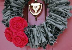 Burlap gray and red for Valentines!