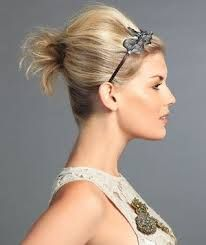 Easy Short Hair Updos That Will Take Eight Minutes or Less – HerHairdos Bump Hairstyles, Short Hair Styles Easy, Holiday Hairstyles, Cute Hairstyles For Short Hair, Pretty Hairstyles, Short Haircut, Hairstyle Ideas, Teased Hair, Hair Day