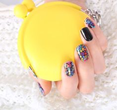 Candy nail sticker,16 patchs, color nailpatch