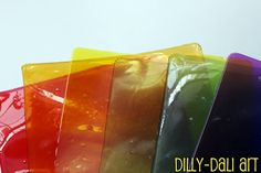 Make plastic out of unflavored gelatin to use for all kinds of crafts.