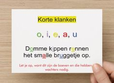 Hulpkaart open en gesloten lettergrepen Let op de boeven en de wachters Dutch Language, Chalkboard Drawings, 21st Century Skills, Kids Writing, Grammar, Teaching, School, Dyscalculia, Dyslexia