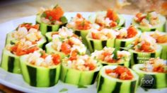 Shrimp Stuffed Cucumber Cups