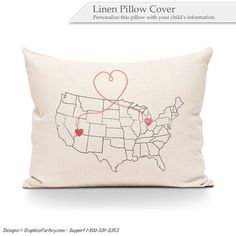 Items similar to map pillow, Housewarming Gift, Father's Day gift, Mother's Day gift - Personalized Map Pillow - Gift For Family - Utah - Ohio - Custom Maps on Etsy Personalized Pillows, Custom Pillows, Personalized Gifts, Handmade Gifts, Linen Pillows, Throw Pillows, Gifts For Father, House Warming, Maps
