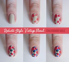 Step by Step Nail Art Tutorials