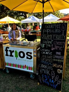 Frios Gourmet Pops in Fairhope Alabama - delicious, frosty pops in great local flavors like Satsuma!