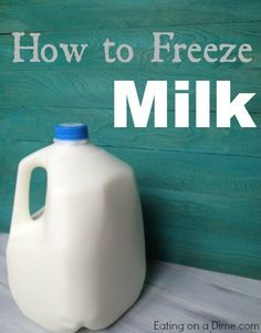 Save money by freezing milk! is so easy to do!