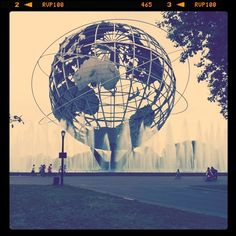 "Unisphere @ Flushing Meadows Park, Corona, NY...World's Fair in 1939 and 1964...went to the 1964 one and went roller skating at the rink in the 50's.  they had an exhibit there that showed how you would be able to see the person yu were talking to on the telephone and I thought, ""Why would I ever want to do that?""!"