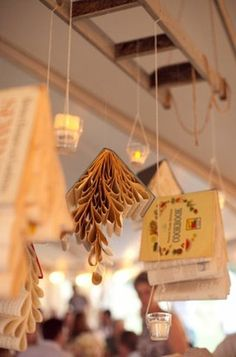 book theme wedding book lights. Books without the candles for a nursery
