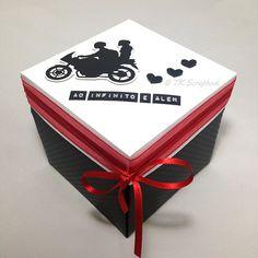 Caixa explosion box romântica (visão da caixa fechada)