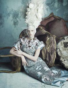 Luigi + Iango for Vogue Germany, April 2014, Opulenz À La Marie Antoinette & Kopfarbeit (via LE BEEHIVE)