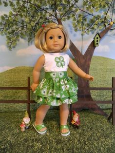 18 doll clothes American Girl doll clothes St. by SewCuteJune