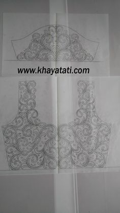 Peacock Embroidery Designs, Border Embroidery Designs, Embroidery Suits Design, Floral Embroidery Patterns, Hand Work Embroidery, Embroidery Motifs, Dress Sewing Patterns, Hand Work Blouse Design, Simple Blouse Designs